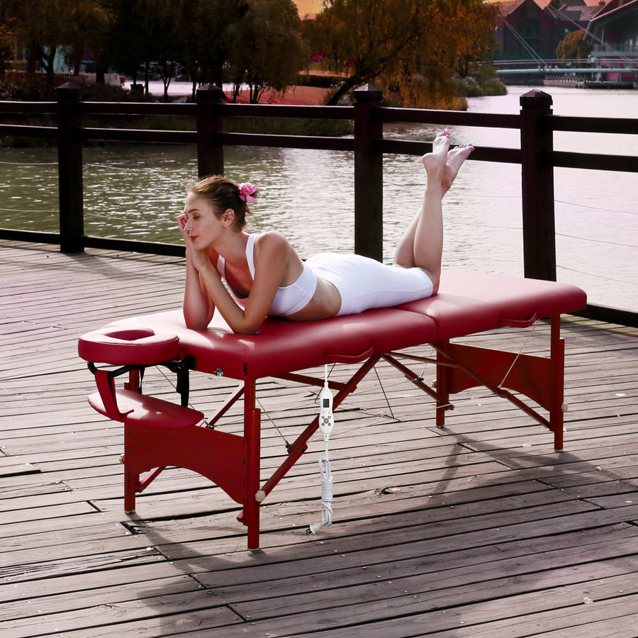 "Master Massage 28"" Fairlane thermal top portable massage Table"