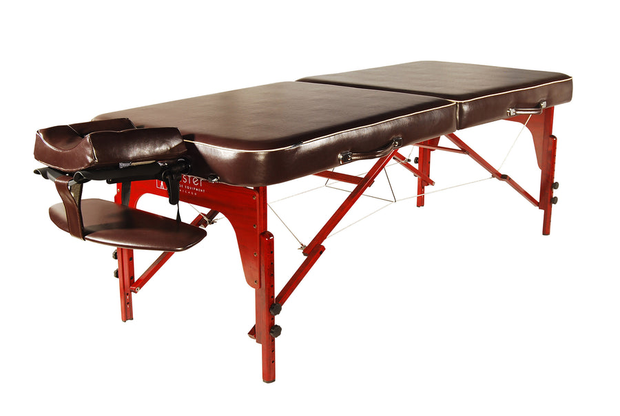 "Master  Massage 30"" MONROE Portable Massage Table Chocolate"