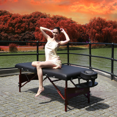 "Master Massage 30"" Roma™ LX Portable Massage Table Package with Best Selling Size (Black)"