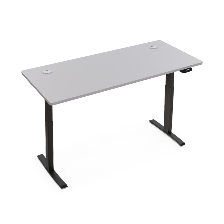 "Hi5 Electric Height Adjustable Standing Desks with Rectangular Tabletop (63""x27.5"") for Home Office Workstation with 4 Color Option"