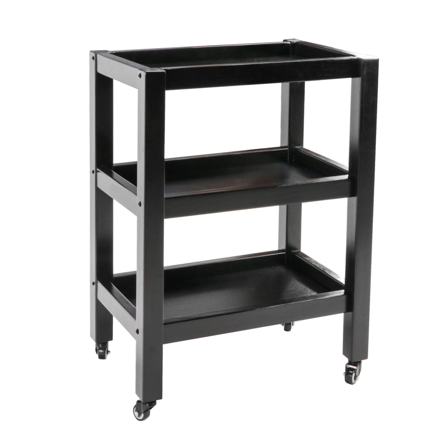 Master Massage Salon Trolley With Wheels 3 tiers black