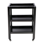 Master Massage Wooden Salon Trolley cart 3 tier black