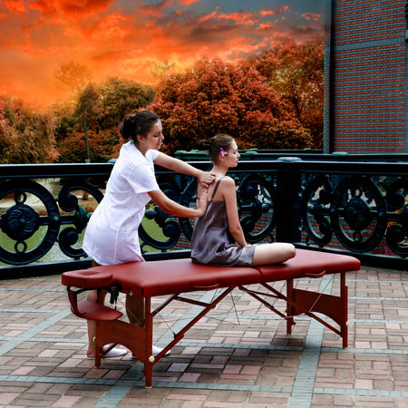 "Master Massage 25"" Massage Table Portable Massage Table Folding Massage Table Foldable Massage bed Wood massage bed Spa Table Salon table Beauty Table Tattoo table"