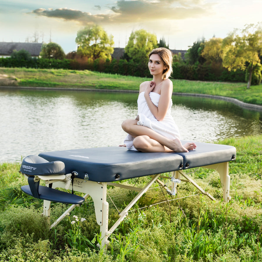 "Master Massage 30"" Phoenix™ Portable Massage Table Package with Therma-Top® - Adjustable Heating System! (Royal Blue Color)"