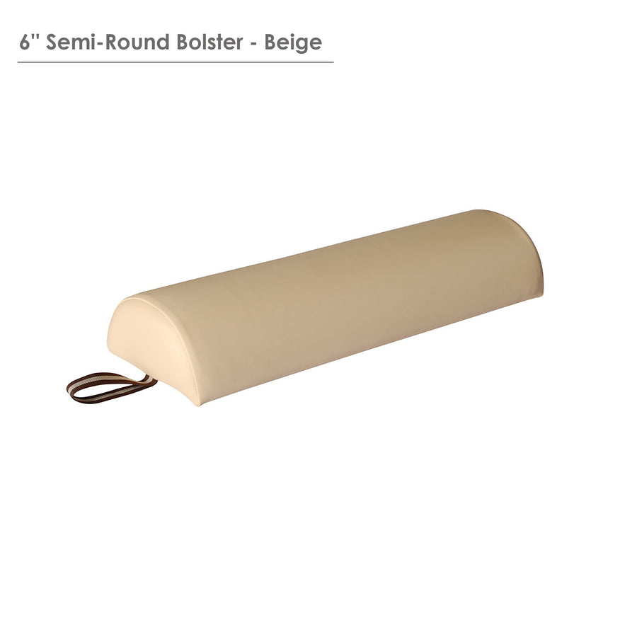 "Master Massage Large 6"" Semi-Round Bolster - Purple"