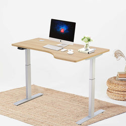 "Hi5 Electric Height Adjustable Right Handed Standing Desks (55""x33"") for Home Office Workstation with 4 Color Option"