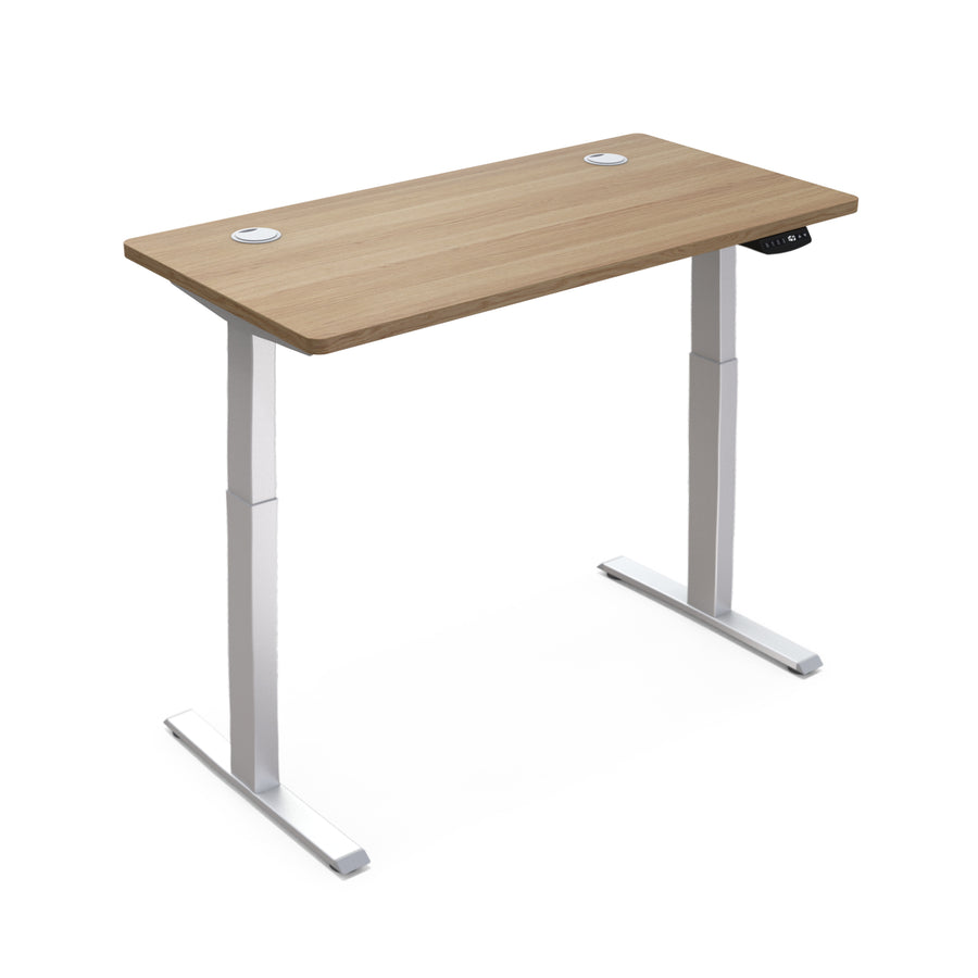 "Hi5 Electric Height Adjustable Standing Desks with Rectangular Tabletop (47.25""x 24"") for Home Office Workstation with 4 Color Option"