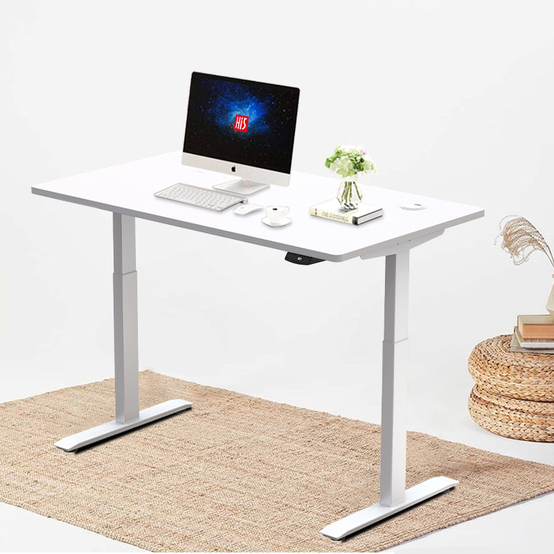 Hi5 Electric Height Adjustable Standing Desks With Rectangular Tableto Master Massage Equipments