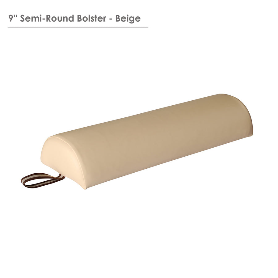 "Master Massage Large 9"" Semi-Round Bolster cream color"