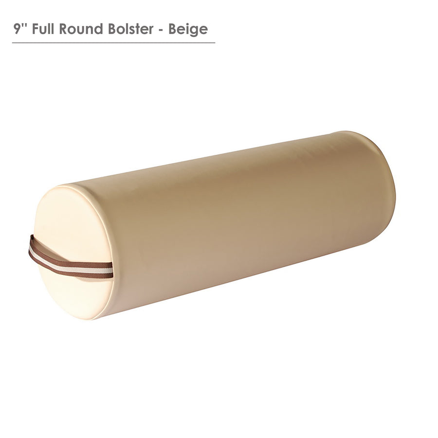 "Master Massage  9""x26"" Round Bolster cream"