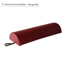 Master semi-round bolster for massage table red color