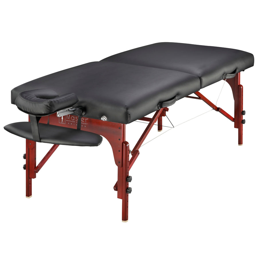 "Master Massage 31"" Montclair™ Salon Therma-Top® - Ultimate Massage Table and Package, Has All the Bells & Whistles! (Black Color)"