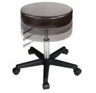 Master Massage Rolling  swivel Stool chocolate color