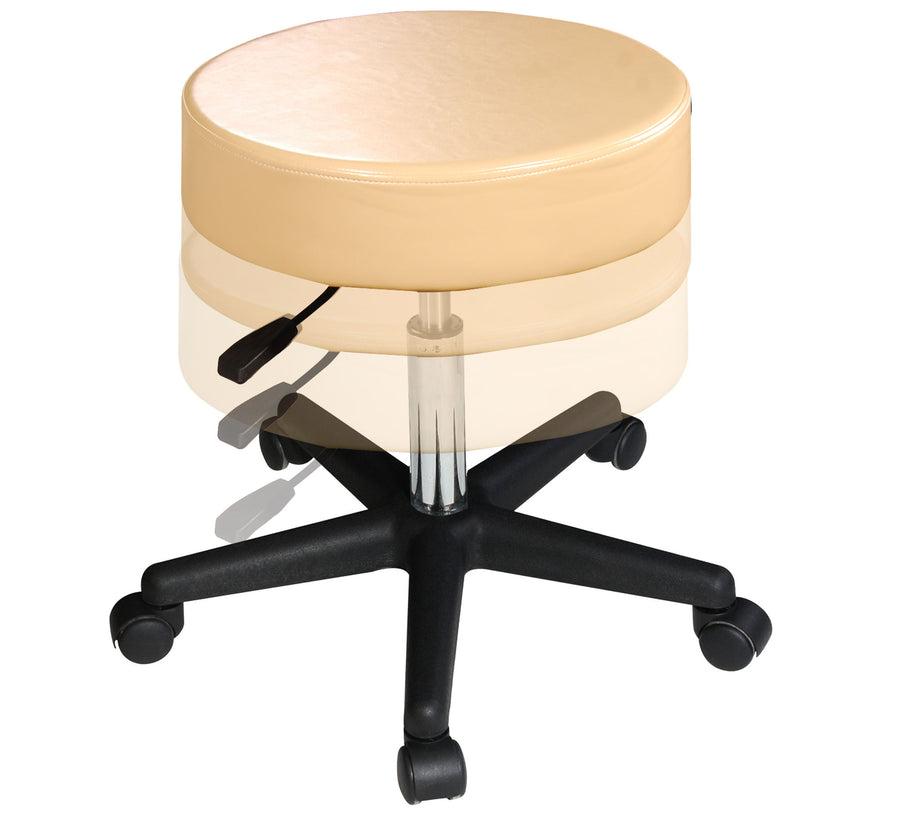 Master Massage Beauty Rolling Swivel Hydraulic Massage Stool cream