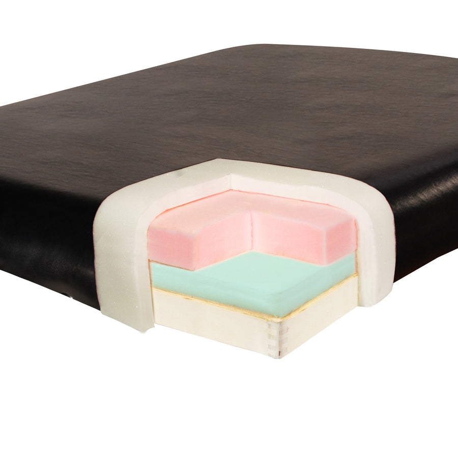 "Master 31"" Montclair Stationary  Massage Table Black foam"