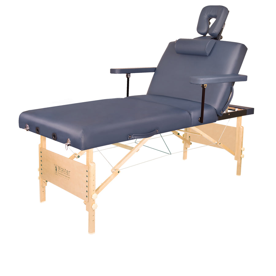 "Master Massage 30"" CORONADO™ Portable Massage Table adjustable massage table wood massage table facial table"