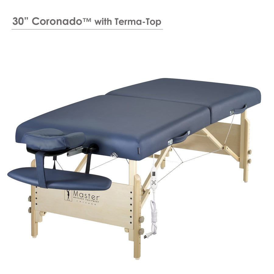 "Master Massage 30"" CORONADO™ Portable Massage Table Package with 3"" Thick Cushion of Foam for Maximum Comfort! (Royal Blue Color)"