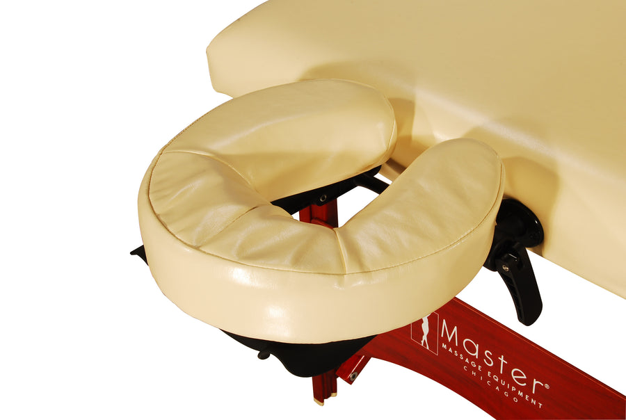"Master Massage 28"" Caribbean™ Portable Massage Table Package with THERMA-TOP® - Built-In Adjustable Heating System and Memory Foam for Extreme Comfort! (Cream Color)"