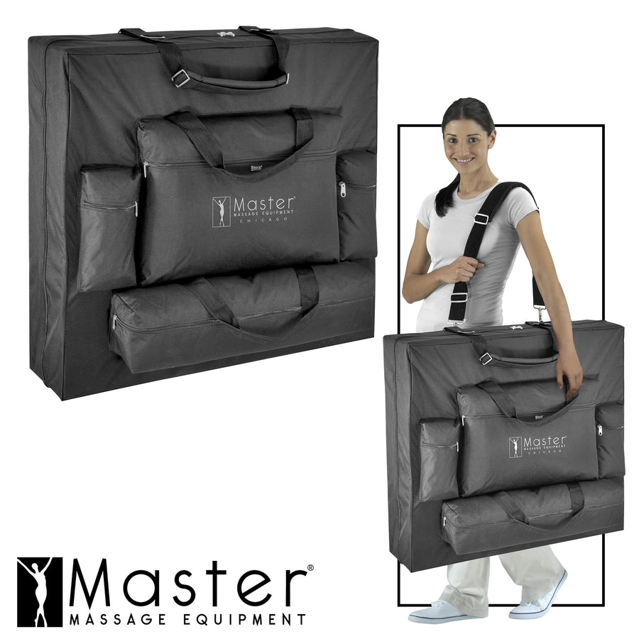 "Master Massage 30"" DEL RAY™ salon table portable massage table spa table 4 pocket carrying case"