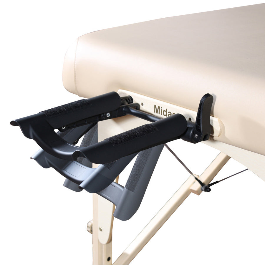 "Refurbish Master Massage 30"" CALYPSO™ LX Portable Massage Table Package with NanoSkin™ - Mushroom (Anti-Microbial - Won't Tear)"