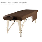 Master  Massage Deluxe  table flannel cover sheet set chocolate