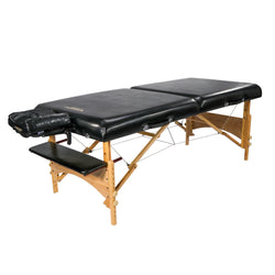 "Master Massage 32"" HUSKY GIBRALTAR™ XXL Portable Massage Table Package - Built for LARGER Clients! Supports an Enormous 3,200 lbs! (Black Color)"