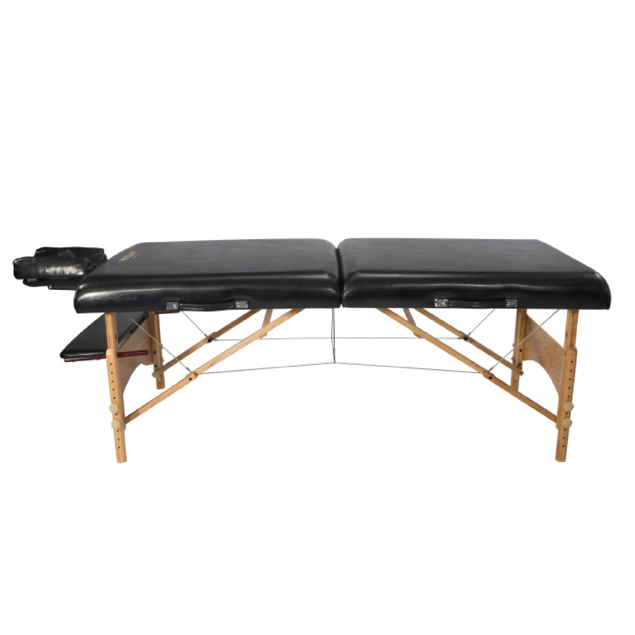 "Refurbish Master Massage 32"" HUSKY GIBRALTAR™ XXL Portable Massage Table Package - Built for LARGER Clients! Supports an Enormous 3,200 lbs! (Black Color)"