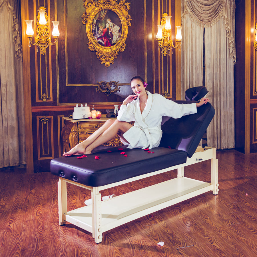 "Master Massage 30"" Harvey Tilt Stationary Massage Table spa table facial table"