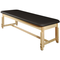 "Master Massage 28"" Harvey Treatment™ Stationary Massage Table - Black"