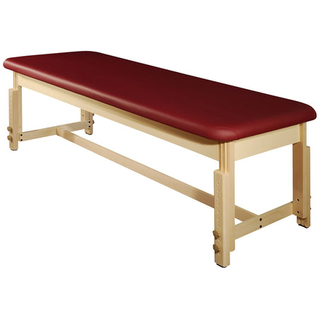 "Master Massage 28"" Harvey Treatment™ Stationary Massage Table - Burgundy"