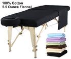 Master Massage Deluxe Massage Table Flannel 3 Piece Sheet Set - 100% Cotton-Black