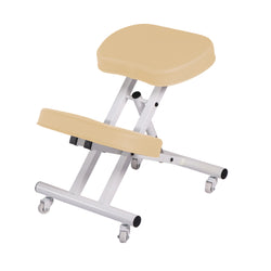 Master Ergonomic  Steel Kneeling Chair PREFECT FOR Home, Office & Meditation with 2 Color Choice! (Cream)