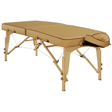 "Mt Massage 30"" Full Size Lotus Deluxe Portable Massage Table Package Salon Beauty Beds with Reiki Panels, memory foam and Shiatsu Cable Release Beige"