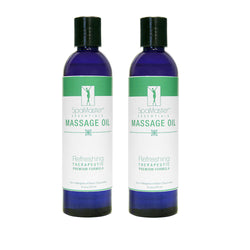 Master Massage - Refreshing Aromatherapy Massage Oil - 2 Pack