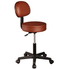 Master Massage Pneumatic Rolling Stool with Backrest chocolate