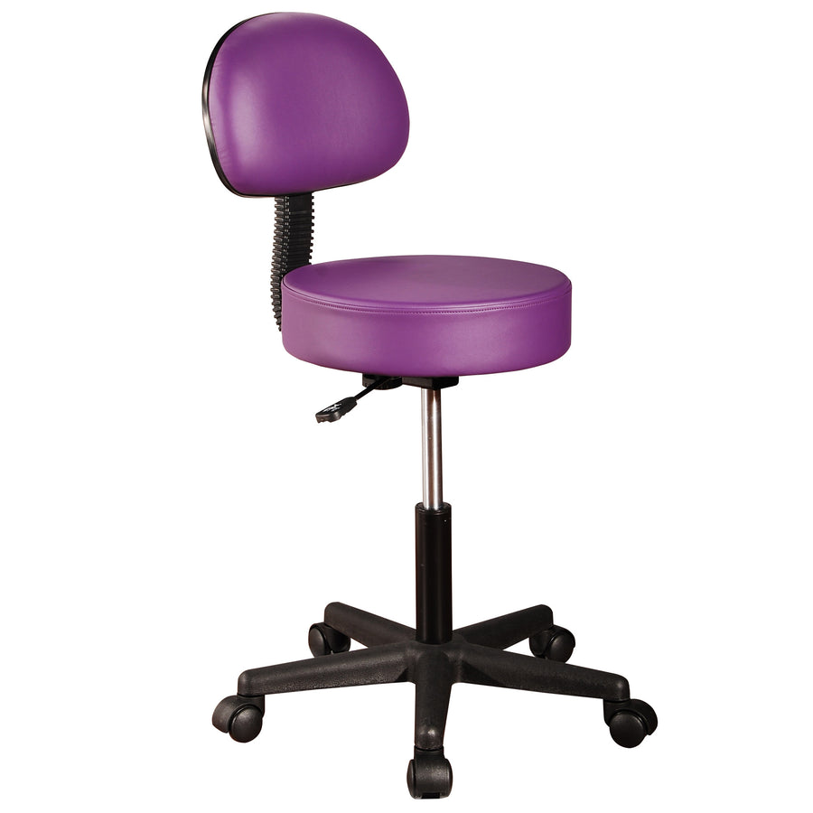Master Pneumatic Rolling Massage Stool with Backrest purple