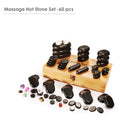 Master Massage Deluxe 70 pcs Black Basalt Massage Hot Stone
