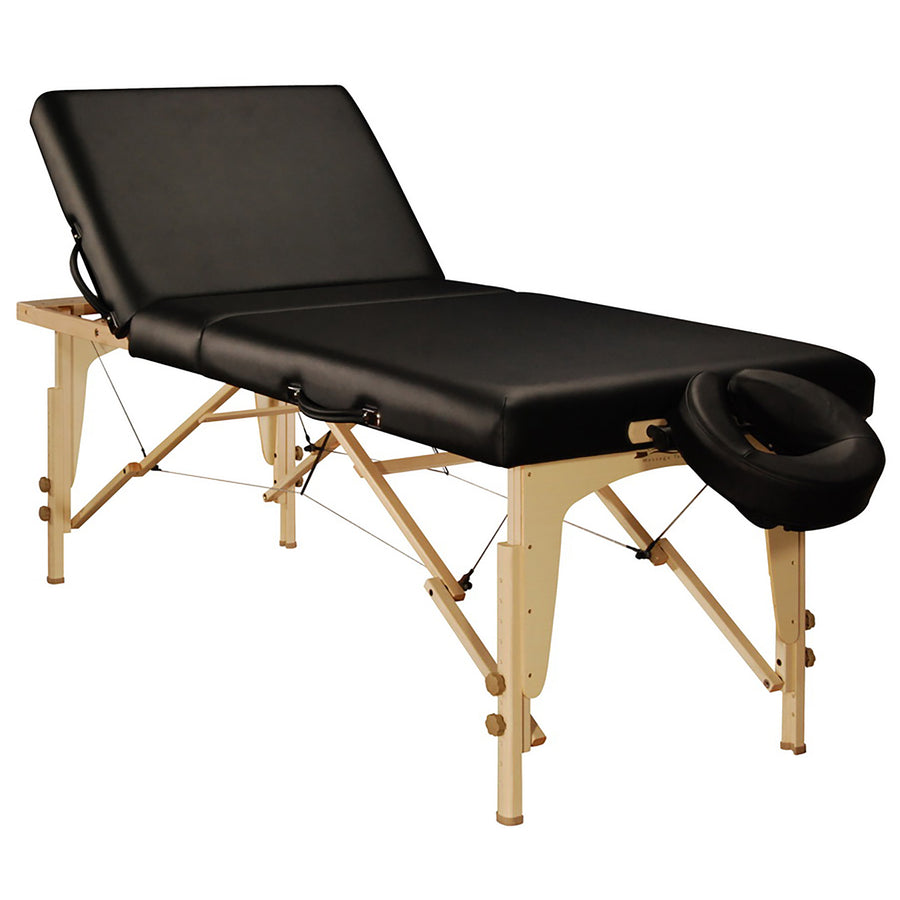 "Mt Massage 30"" Midas Tilt Portable Massage Table Package Backrest Liftback Tattoo and Salon Table Cream"