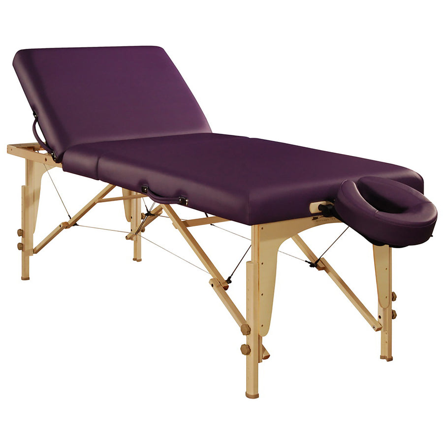 "Mt Massage 30"" Midas Tilt Portable Massage Table Package Backrest Liftback Tattoo and Salon Table Royal blue"