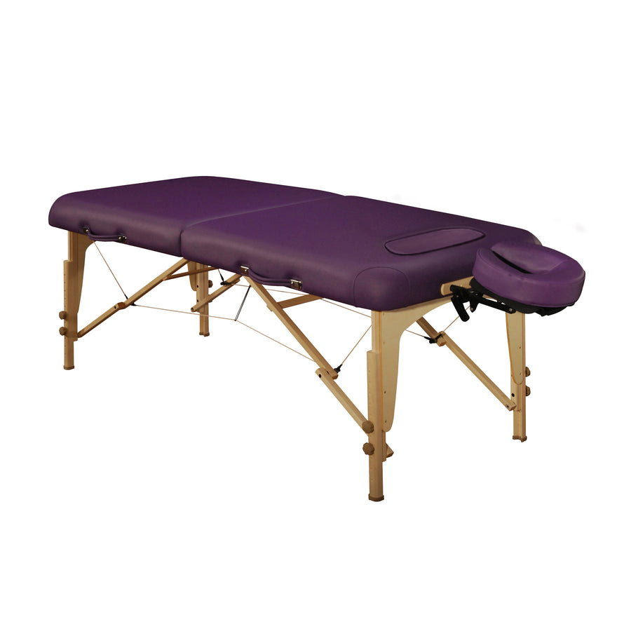 "Mt Massage 30"" Midas Girl Breast Recess Full Size Professional Portable Massage Table Package Cream"