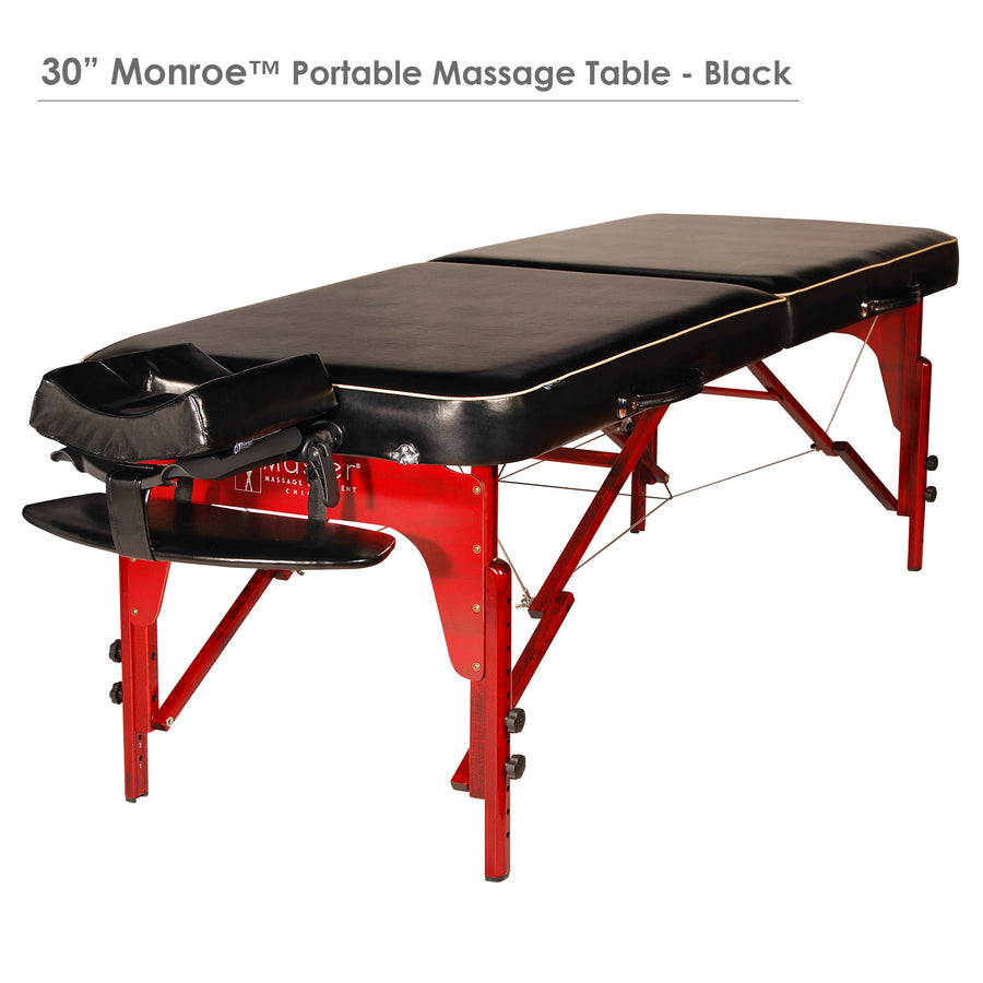"Master  Massage 30"" MONROE Massage Table Black"