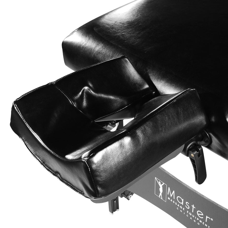 "Master 31"" Montclair Stationary  Massage Table Black face cushion"