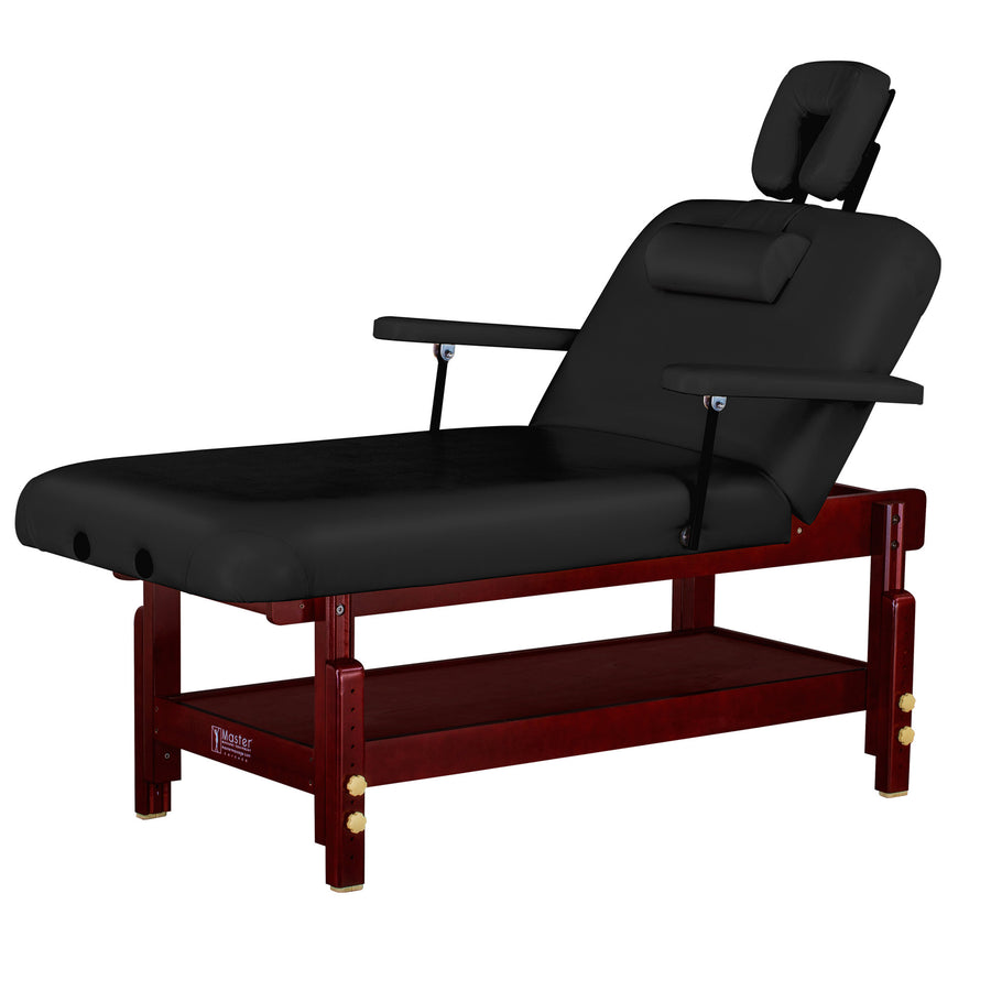"Master Massage 31"" Montclair Stationary  Table Black"