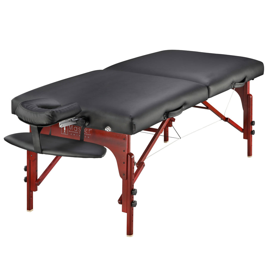 "Master Massage 31"" Extra Wide Montclair Pro Memory Foam Portable Massage Table Package with Reiki - Imperial Blue"
