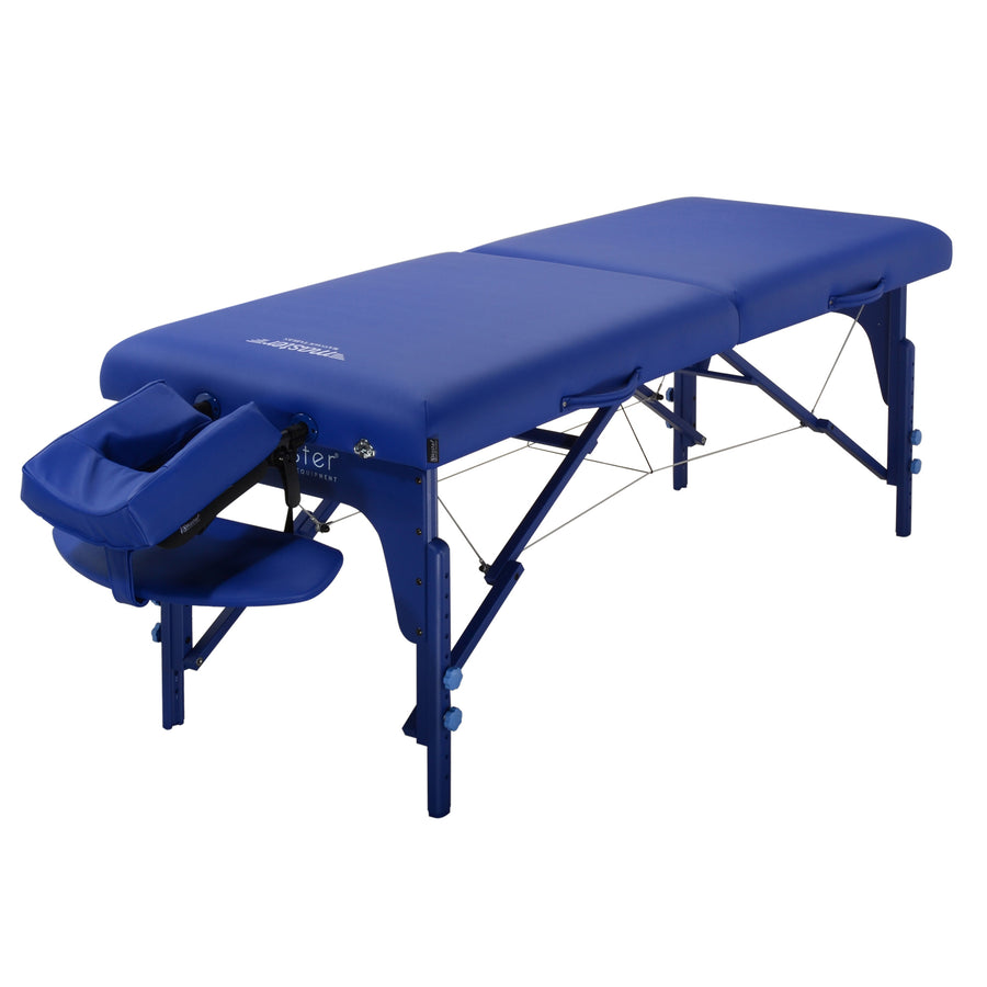 "Master Massage 31"" Extra Wide Montclair Massage Table Blue"
