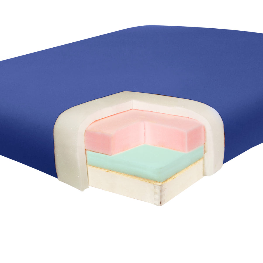 "Master Massage 31"" Montclair Massage Table Imperial Blue Foam"