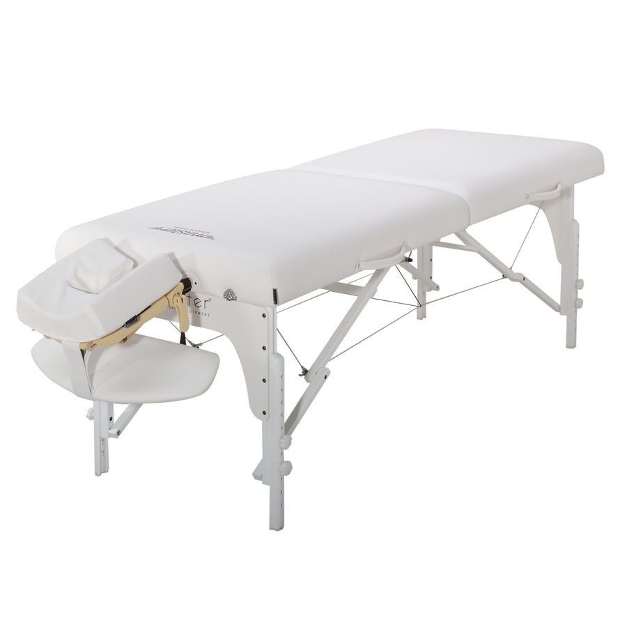 "Master Massage 31"" Extra Wide Montclair Pro Memory Foam Portable Massage Table Package with Reiki - Royal Blue"