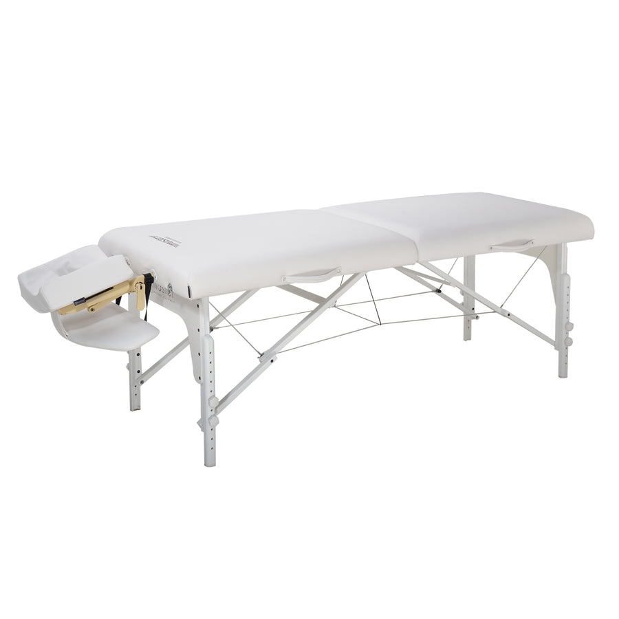 "Master Massage 31"" Montclair Portable Massage Table Snow White"