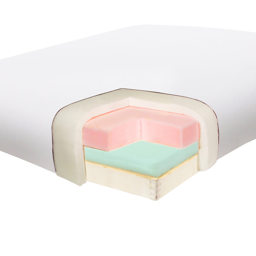 "Master Massage 31"" Montclair Massage Table Snow White foam"