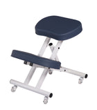 Master Ergonomic Steel Kneeling Massage Chair Royal blue